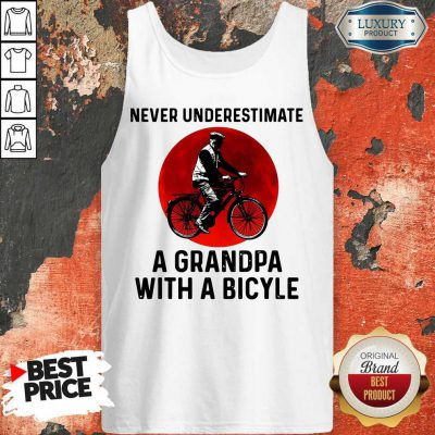 Top Never Underestimate A Grandma With A Bicycle Tank Top