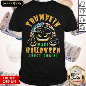 Trumpkin Make Halloween Great Again American Flag Shirt