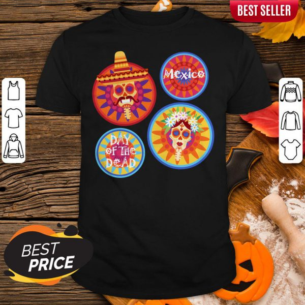 Mexico Day Of The Dead Sugar Skull Couple Shirt