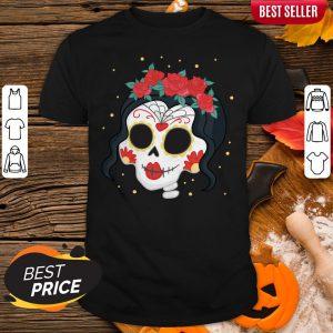 Sugar Skull Girl Rose Dia De Muertos Day Of Dead Shirt