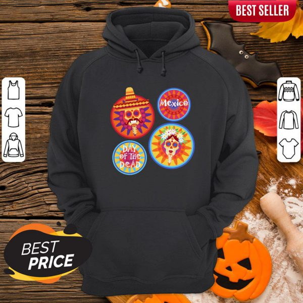 Mexico Day Of The Dead Sugar Skull Couple Hoodie