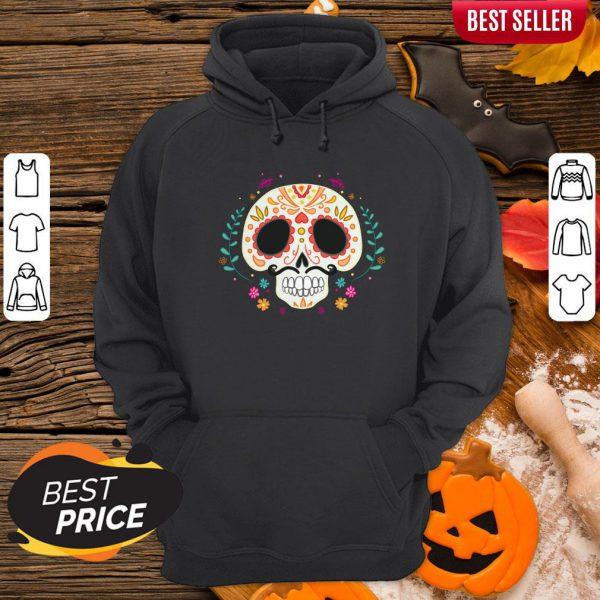 Day Of The Dead Dia De Los Muertos Sugar Skull Hoodie