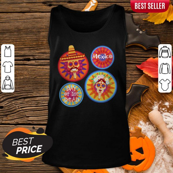 Mexico Day Of The Dead Sugar Skull Couple Tank Top