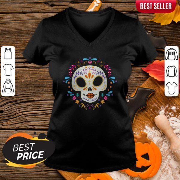 Sugar Skull Day Of The Dead V-neck