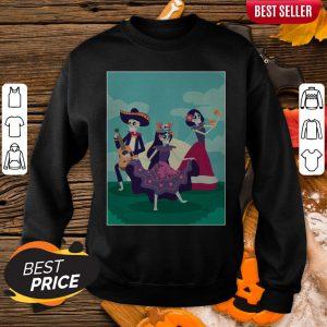 Skeletons Party Dia De Muertos Mexican Holiday Sweatshirt
