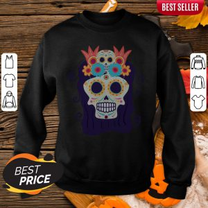 Sugar Skull Woman Day Of The Dead Muertos Sweatshirt