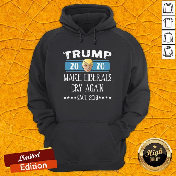 Trump 2020 Make Liberals Cry Again Since 2016 Hoodie