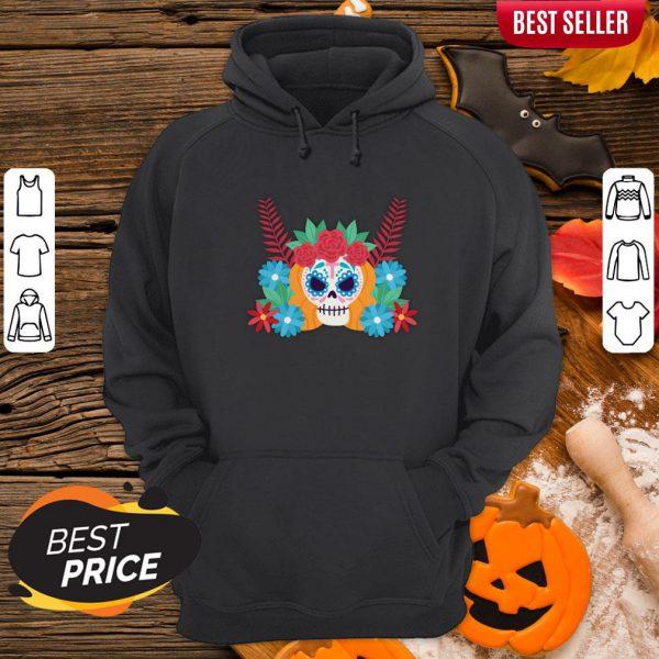 Nice Sugar Skull Dia De Los Muertos Day Dead Hoodie