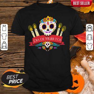 Official Sugar Skulls Dia De Muertos Day Dead Shirt