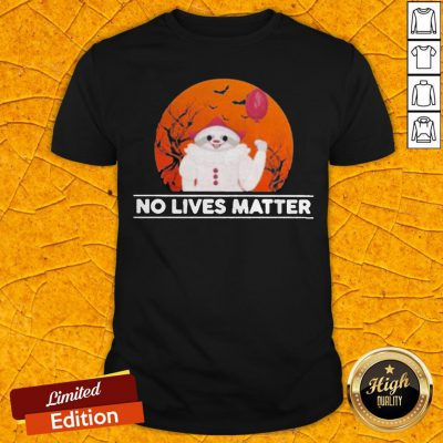 Funny Sloth Pennywise No Lives Matter Halloween Shirt
