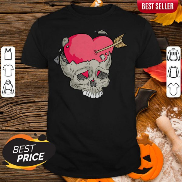 Skull Heart Day Of Dead Dia De Muertos Shirt