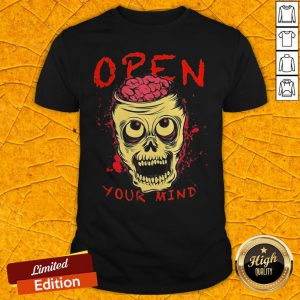 Funny Skull Open Your Mind Halloween Shirt