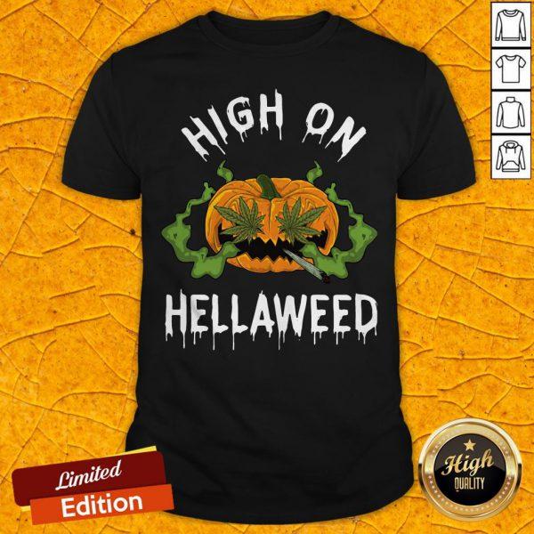 Funny Pumpkin Weed High Onweed Shirt
