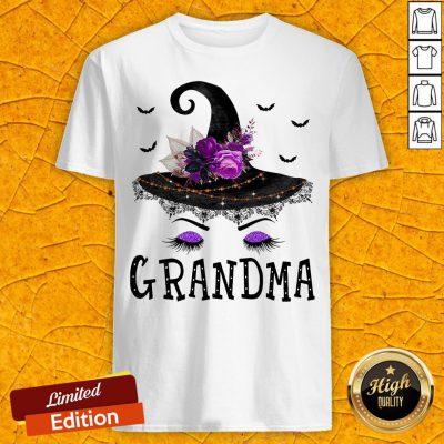 Funny Grandma Witch Hat Halloween Shirt
