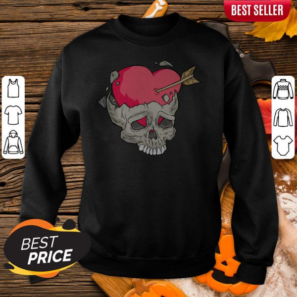Skull Heart Day Of Dead Dia De Muertos Sweatshirt