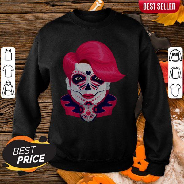 Sugar Skull Boy Dia De Muertos Day Of Dead Sweatshirt
