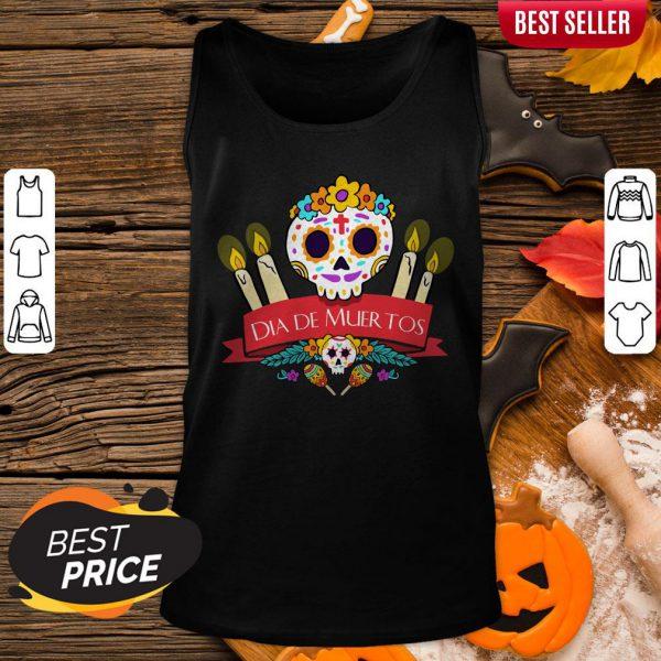 Official Sugar Skulls Dia De Muertos Day Dead Tank Top