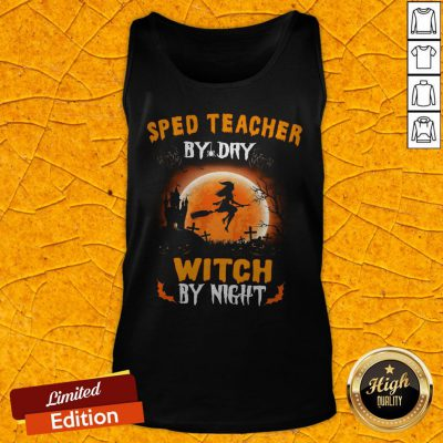 Sped TeacherBy Day Witch By Night Halloween Tank Top