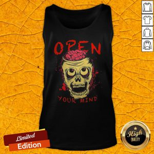 Funny Skull Open Your Mind Halloween Tank Top