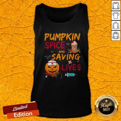 Pumpkin Spice And Saving Lives Pumpkin Nurse Latte Medical Staff Halloween Tank Top