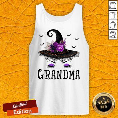 Funny Grandma Witch Hat Halloween Tank Top