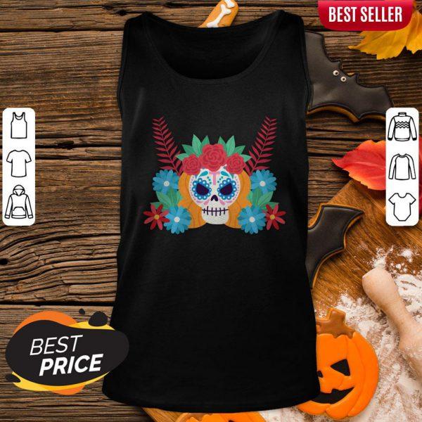Nice Sugar Skull Dia De Los Muertos Day Dead Tank Top