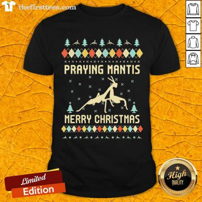 Hot Praying Mantis Ugly Christmas Shirt-Design By Wardtee.com