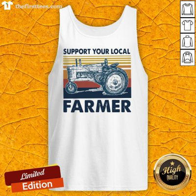Hot Vintage Support Your Local Farmer Classic Tank Top-Design By Wardtee.com