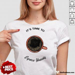 It's Time To Espresso Yourself A Coffee V-neck-Design By Wardtee.com