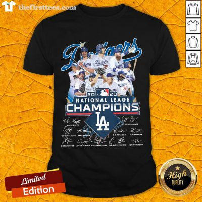 Los Angeles Dodgers 2020 National League Champions Signatures Shirt-Design By Wardtee.com