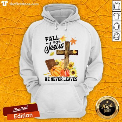 Nice Fall For Jesus He Never Leaves Halloween Hoodie- Design By Thefirsttees.com