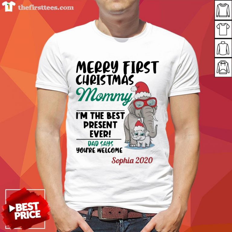Perfect Elephant Merry First Christmas Mommy Shirt-Design By Wardtee.com