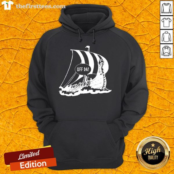 Perfect Uff Da Viking Ship Hoodie- Design By Thefirsttees.com