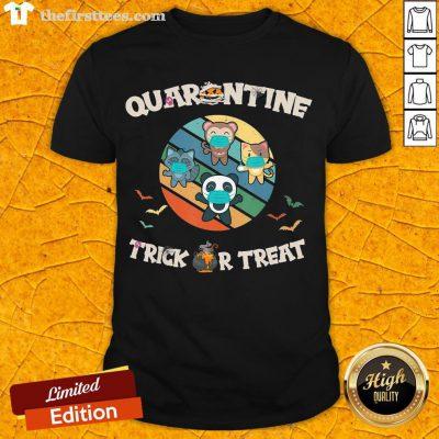 Premium Halloween Trick Or Treat Cute Panda Monkey Fox Cat Costume T-Shirt-Design By Thefirsttees.com