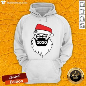 Pretty Santa Wearing Mask 2020 Christmas Hoodie- Design By Thefirsttees.com