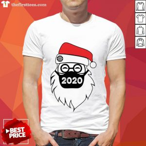 Pretty Santa Wearing Mask 2020 Christmas Shirt- Design By Thefirsttees.com
