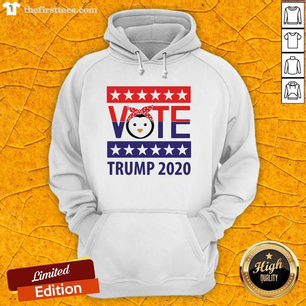 Pro Penguins Vote Trump 2020 Stars Election Hoodie-Design By Wardtee.com