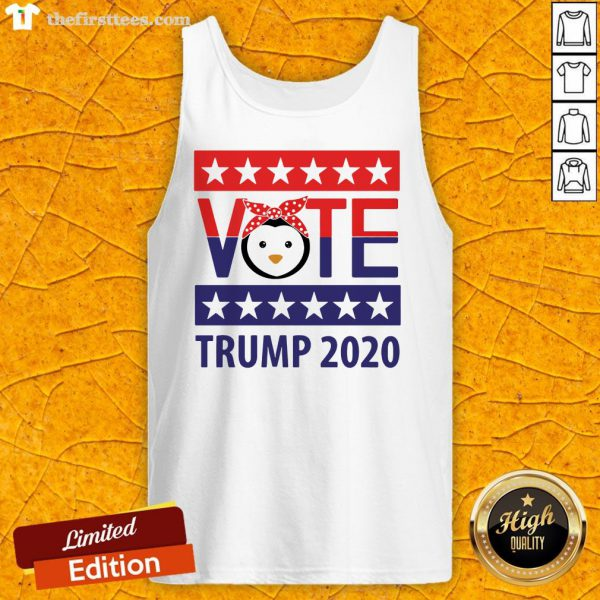 Pro Penguins Vote Trump 2020 Stars Election Tank Top-Design By Wardtee.com