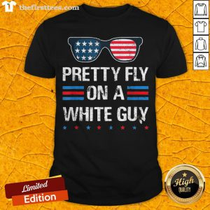 Nice Glasses Pretty Fly On A White Guy Shirt - Design By Thefirsttees.com