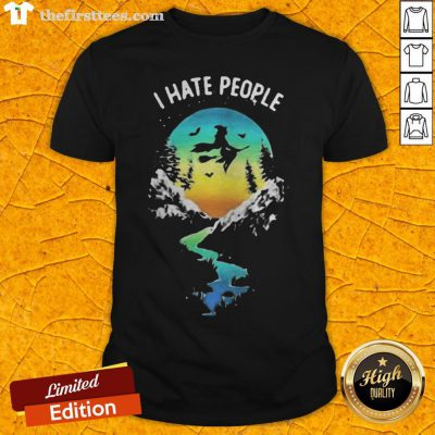 Witch Go Camping I Hate People Halloween Shirt - Design By Thefirsttees.com