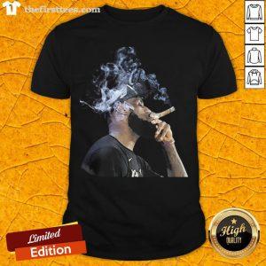 Pretty Lebron James Smoking Cigar Shirt - Design By Thefirsttees.com