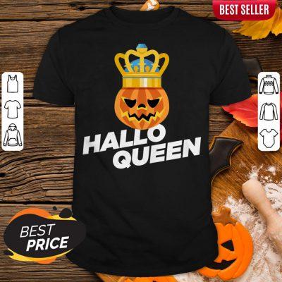 Hallo Queen Pumpkin King Halloween Shirt