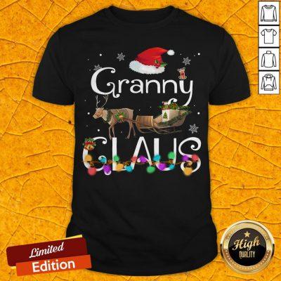Colorful Granny Claus Christmas Shirt