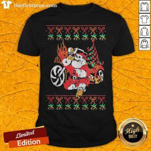 Premium Santa Bad Drink Christmas Shirt