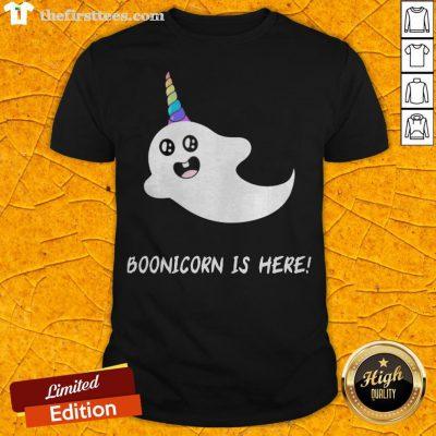 Funny Boonicorn Is Here Halloween Shirt