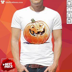 Grateful Pumpkin Spice Kitty Cat Halloween Shirt