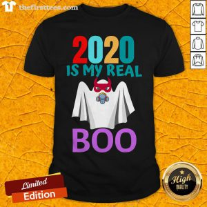 Colorful 2020 Is My Real Boo Ghost Halloween Shirt - Design By Thefirsttees.com