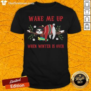 Sloth Wake Me Up When Winter Is Over Christmas Shirt - Design By Thefirsttees.com
