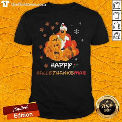 Scooby Doo Happy Hallothanksmas Christmas Halloween Shirt - Design By Thefirsttees.com