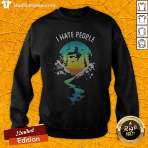 Witch Go Camping I Hate People Halloween Sweatshirt - Design By Thefirsttees.com